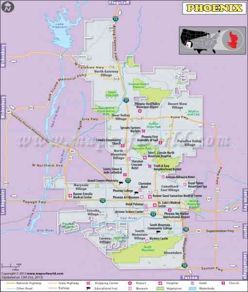 Zip Code Map Of Phoenix Az Map Holiday Travel