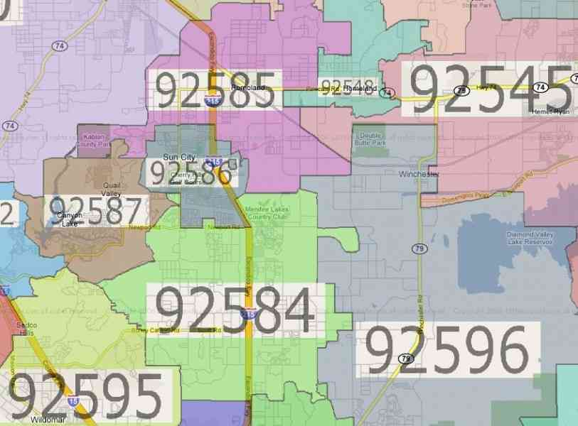 zipcode map 61 Zipcode Map